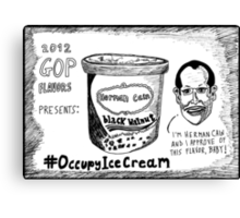 Herman Cain is Black Walnut cartoon Canvas Print