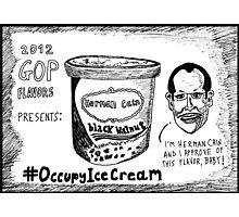 Herman Cain is Black Walnut cartoon Photographic Print