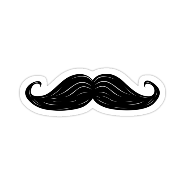 Moustache Sticker by Siegeworks .