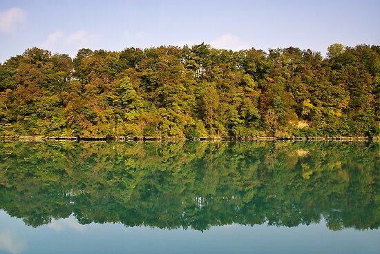Autumn along the Rhone river by Patrick Morand