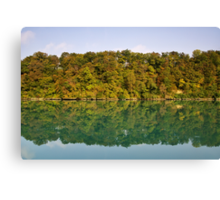 Autumn along the Rhone river Canvas Print