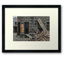 Destroyed photostudio Framed Print
