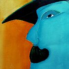 man with hat and moustache by agnès trachet