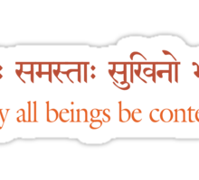 May all Beings be Content Sticker