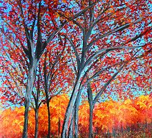 Red Forest by maggie326