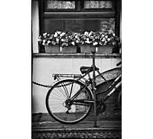 Bicycle with flowers Photographic Print