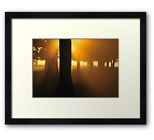 Across the River and into the Trees Framed Print