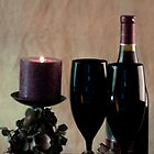 Wine For Two by Candlelight by Sherry Hallemeier