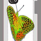 butterfly iphone case by vigor