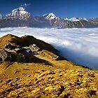Campsite on Kopra Ridge, Nepal by Kevin McGennan