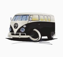 VW Splitty (11 Window) Black by Richard Yeomans