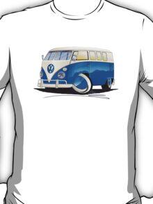 VW Splitty (11 Window) Blue T-Shirt