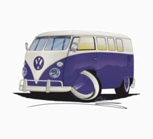 VW Splitty (11 Window) Purple by Richard Yeomans