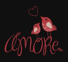 AMORE T-Shirt (on a dark background) by Voila and Black Ribbon