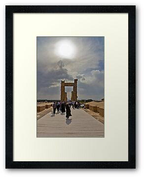 The Entrance to The Palace at Persepolis - Iran by Bryan Freeman