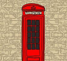 telephone booth iphone case by Anastasiia Kucherenko