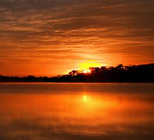 Amber Dawn - Narrabeen Lakes, Sydney Australia - The HDR Experience by Philip Johnson