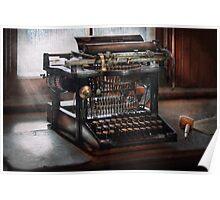 Steampunk - Typewriter - A really old typewriter  Poster