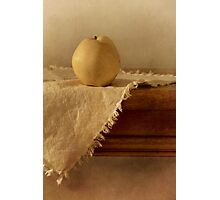apple pear on a table Photographic Print