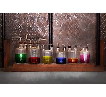 Science - Chemist - Glassware for couples Photographic Print