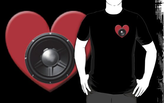 Subwoofer Heart by Kingofgraphics