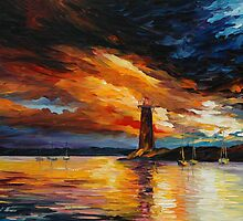 BEFORE A STORM - LEONID AFREMOV by Leonid  Afremov
