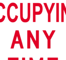 No Occupying Sticker