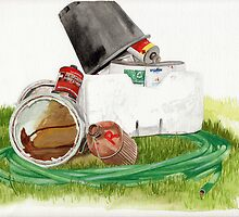 Paint cans by Rhys Burnie