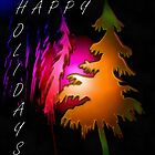 HAPPY HOLIDAYS CARD by Esperanza Gallego