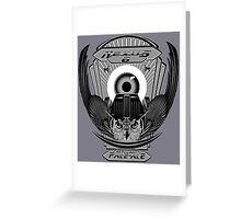 Nexus 6 Replicant Pale Ale (Grayscale) Greeting Card