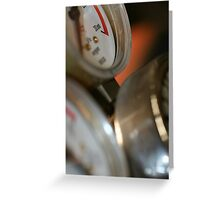 3 Gauges  Greeting Card