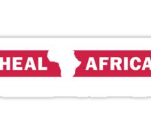 Heal Africa black Sticker
