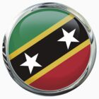 Saint Kitts And Nevis Flag by 3Dflags