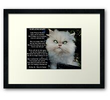 """Princess Kendra"" Poem Written by Dawn M. Becker..Kendra's Other Mommy..xx Framed Print"