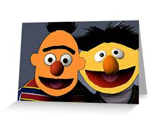 Bert and Ernie parallel universe Street Art Greeting Card