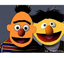 Bert and Ernie parallel universe Street Art Photographic Print