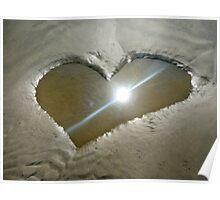 Heart Shaped Sand Poster