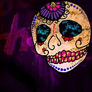 Day of the Dead True Skull by motherhenna