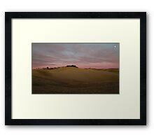 Collina Pienza Framed Print