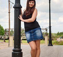 Beautiful girl on lantern. by fotorobs