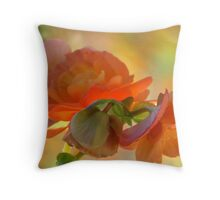 A Beguiling Begonia Throw Pillow