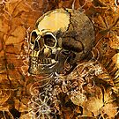 Skull and Flowers 2 by Renars Slavinskis