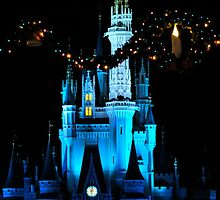 Cinderella's Castle at night by logonfire