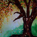 Fall Tree by Debbie  Adams