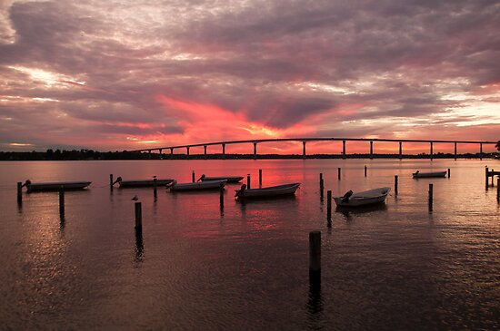 """Solomons Sunset"" - sunset in Solomons, Maryland by John Hartung"