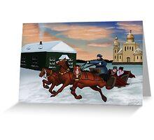 Troika - Winter Scene Greeting Card