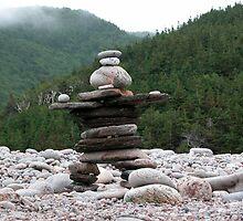 Atlantic Inukshuk, Cape Breton National Park.  by creativegenious