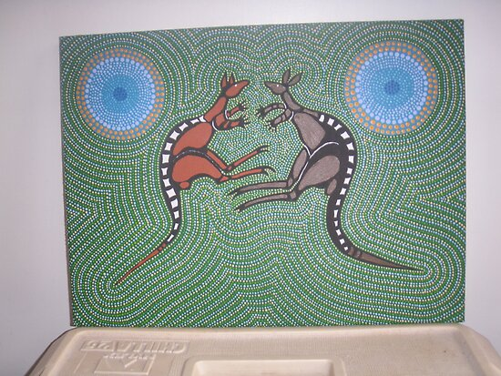 Fighting Kangaroos by Derek Trayner
