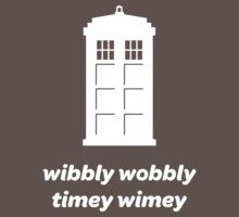 Wibbly Wobbly Timey Wimey Shirt (Dark Colors) Kids Clothes