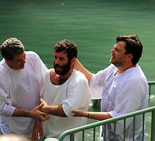 Baptised in the Jordan river #9 by Moshe Cohen